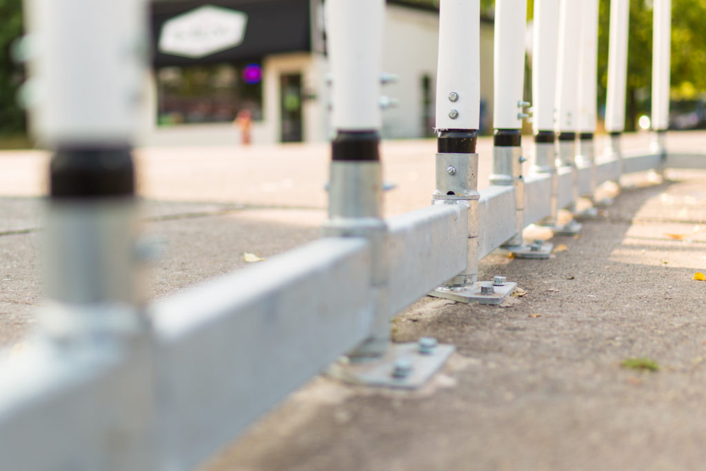 Temporary Bicycle Lane Barrier