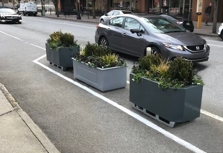 SteelGreen Planters Provide Bike Lane Protection in Atlanta