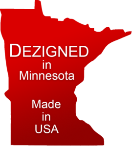 Dezigned in Minnesota Made in USA Badge